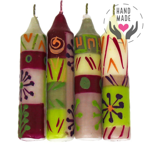 Hand-Painted Kileo Design Candles (Set Of 4)