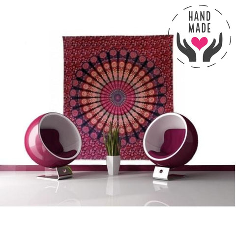 Indian Magenta Hibiscus Tapestries
