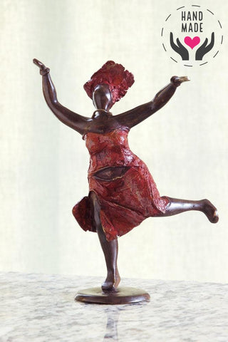 Joyful Dancer Bronze Statuette Sculptures