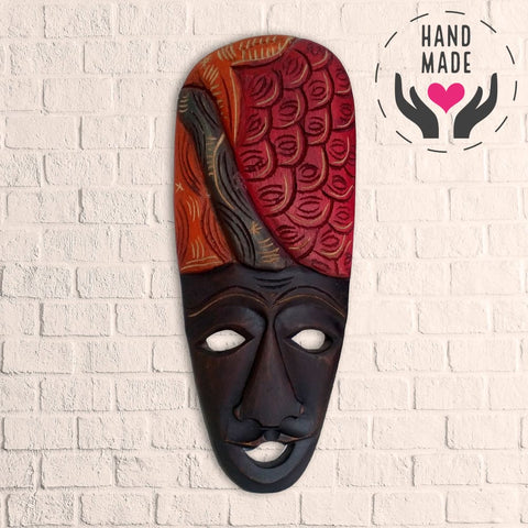 Las Escamas Mahogany Mask Masks
