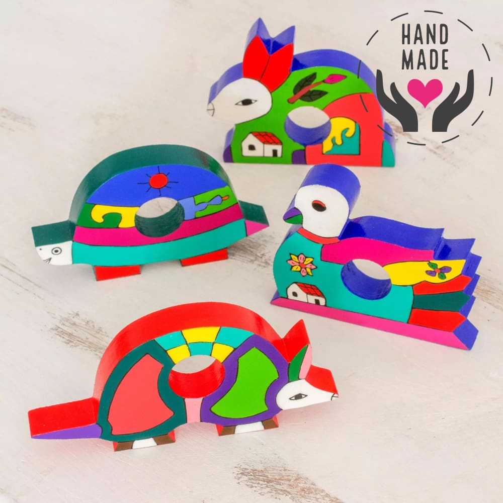 Lovely Animals Napkin Rings Napkins &