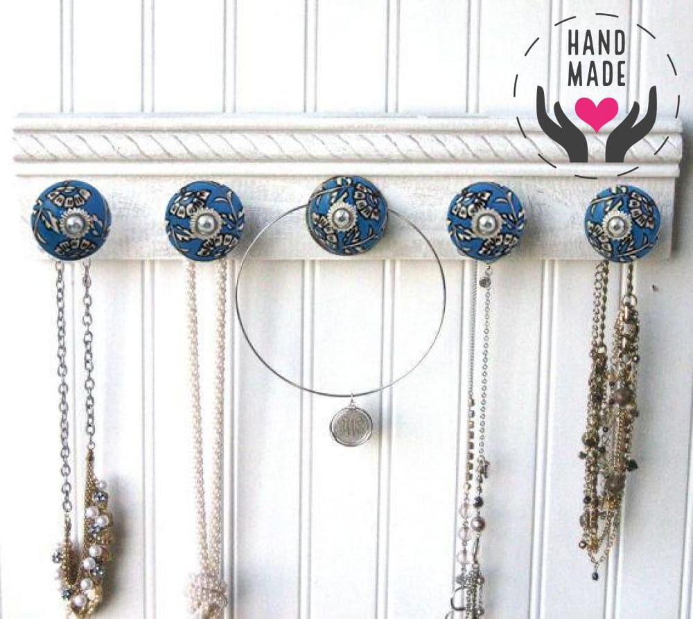 Majestic Blue Knobs (6) Handles