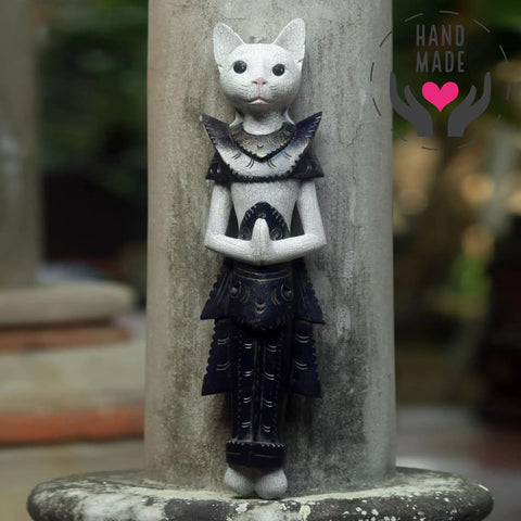Meong Cat Tall Statuette Sculptures