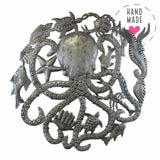 Octopus & Sea Life Metal Steel Drum Wall Art