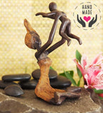 Playful Moment Bronze Statuette Sculptures