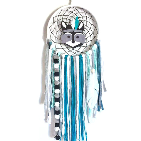 Indian Chief Blue Fox Dreamcatcher