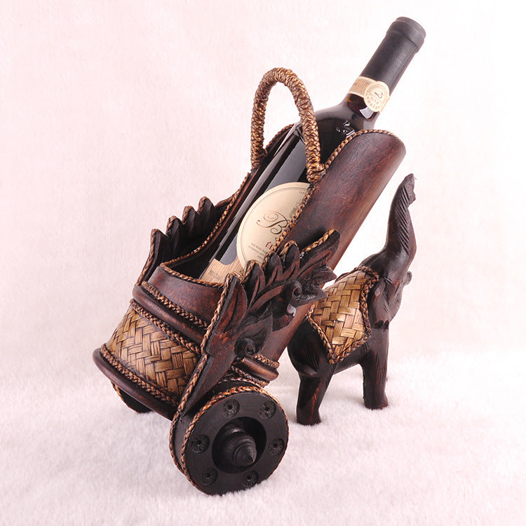 Teak Wood Maharadjah's Wine Holder