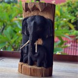 Solid Wood Handmade Carved Elephant