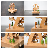 Travel Memories Wooden Rotationg Music Box (5 models)