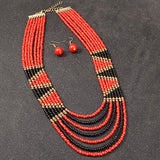 Galia Multi Layer Beaded African Necklace (6 colors)