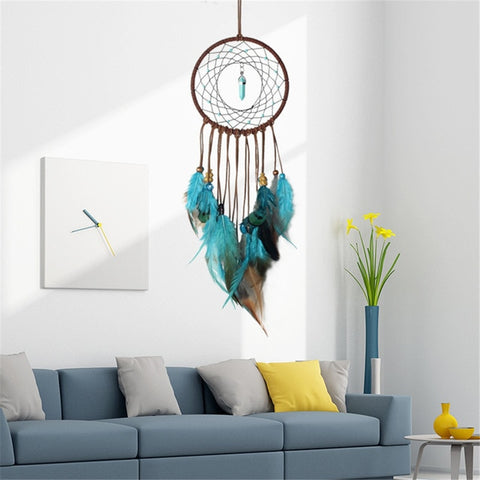 Turquoise Wand Dreamcatcher Wall Art