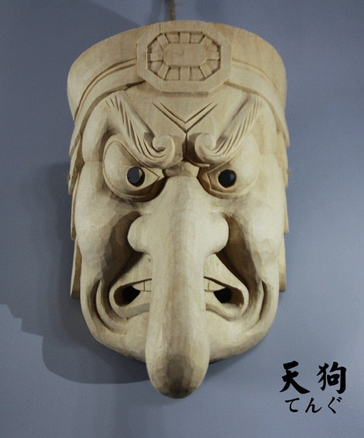 Japanese Noh Boxwood Mask M