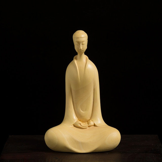 Zen Tao Buddha Hand-Carved Boxwood
