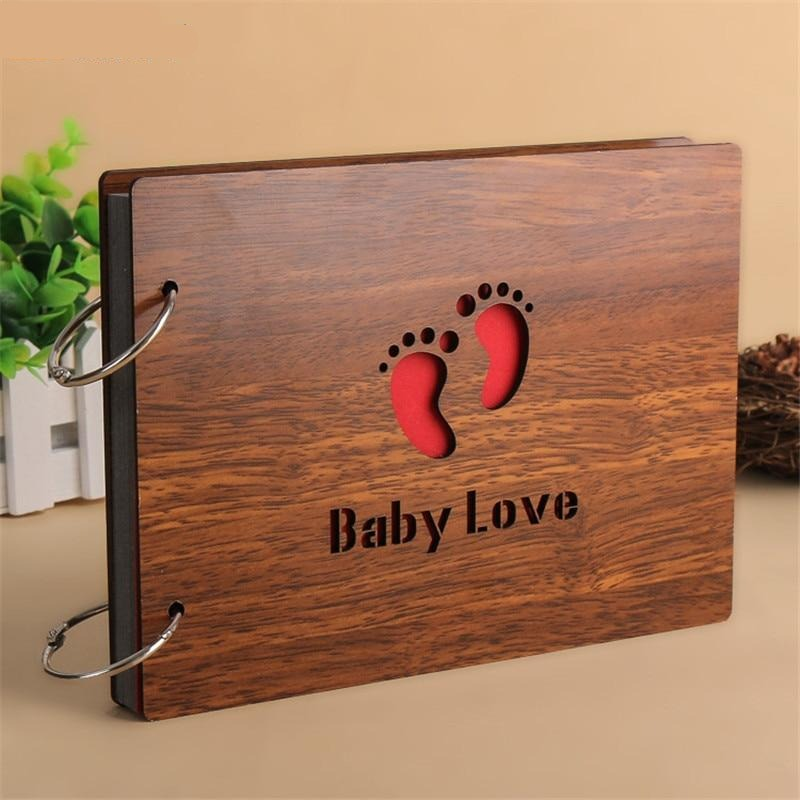 Baby Love Wood Cover Photo Album