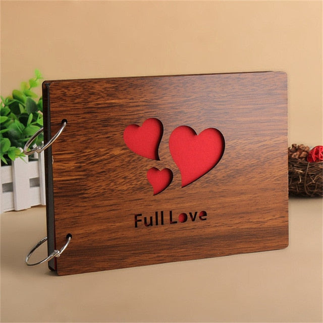 Full Love Wood Cover Photo Album