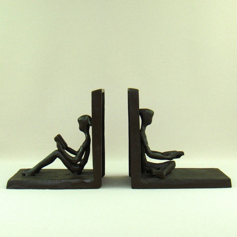 Booklovers Wrought Iron Bookends