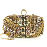 Luxury Sandhya Crystals Embroidery Evening Bag