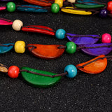 Chibuike Colorful Wooden Shells Necklace