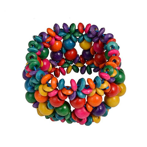 Axelle Colorful Mini Flowers Wooden Beads Bracelet