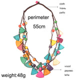 Winnifred Wooden Geometrical Beads Necklace