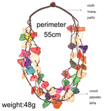 Itoro Colorful Wooden Necklace