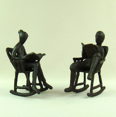 Cast Iron Couple Quietude (Set of 2)