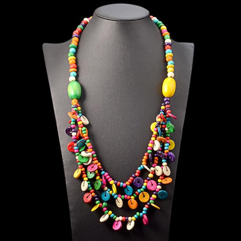 Marie-Louise Colorful Pellets Long Necklace