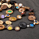 Akinyi Wooden Donuts Long Necklace