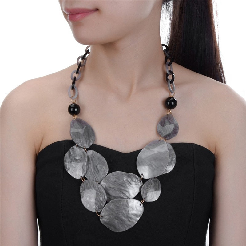 Lorena Shiny Fragments Statement Necklace