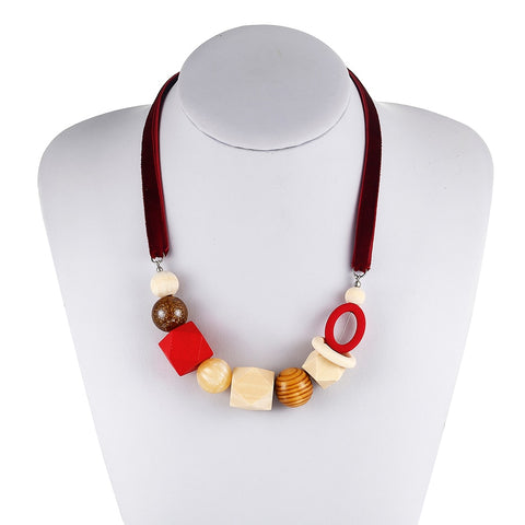 Diane Wooden Beads Necklace