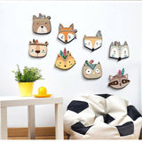 Americas Native Animal Heads Wood Chip Wall Art