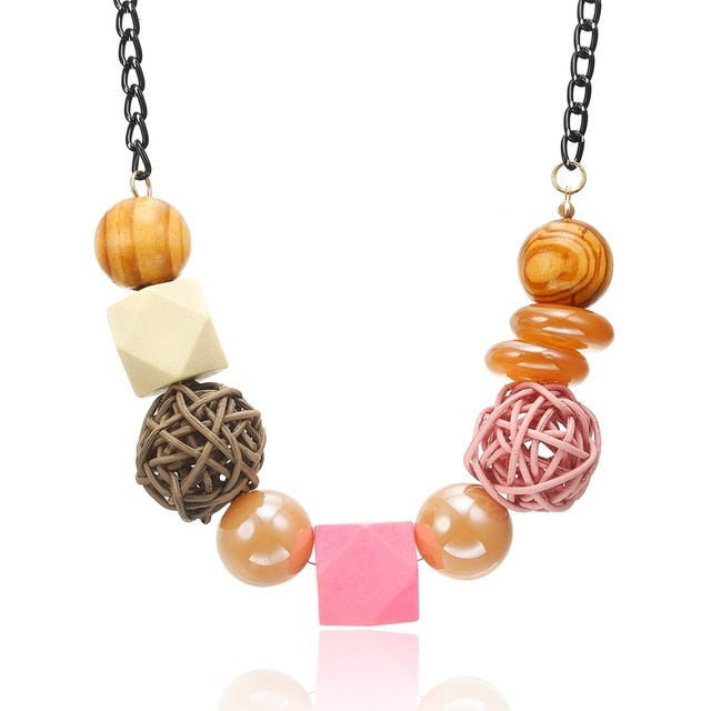 Darcy Wooden Beads Necklace