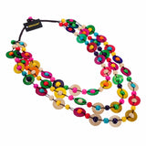 Jillian 7 Colors Wooden Dots Necklace
