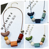 Logan Beads & Wooden Heart Necklace