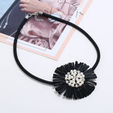 Ingrid Raffia Flower Necklace