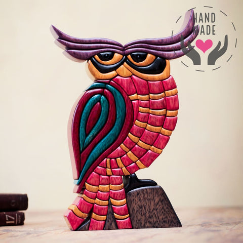 Rainbow Owl Sculptures
