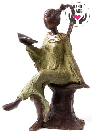 The Reader Bronze Statuette Sculptures