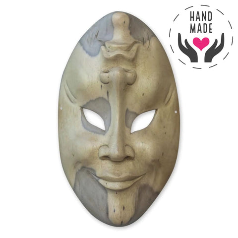 Tragi-Comedy Crocodile Wood Mask Masks
