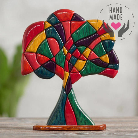 Tree Of Life Mahogany & Cedar Wood Sculptures