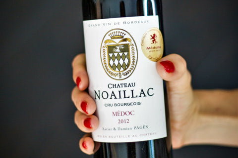 Southern France wine - Bordeaux Merlot-Cabernet blend - Cru Bourgeois from Medoc - Chateau Noaillac