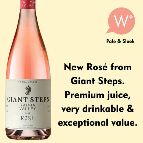 Giant Steps Yarra Valley Rose 2018 - Yarra Valley, Vic
