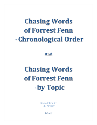 Chasing Words - Chronological Order & By Topic
