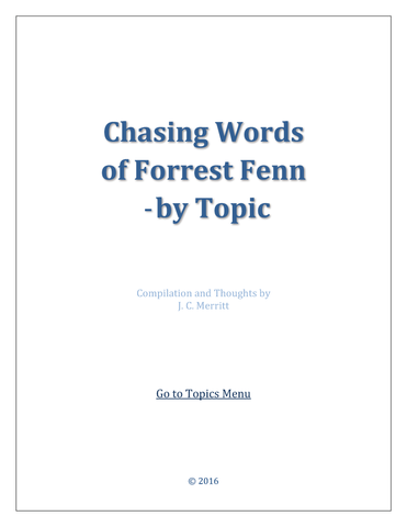 Chasing Words - by Topic (82 Pages)