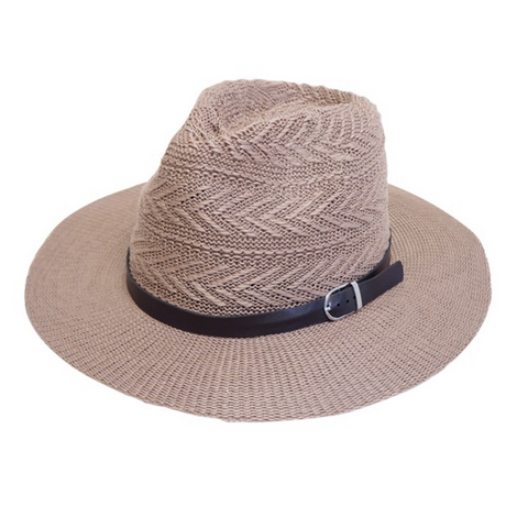Mechaly Women's Panama Camel Vegan Hat