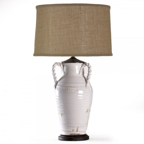 White Pottery Lamp 7118
