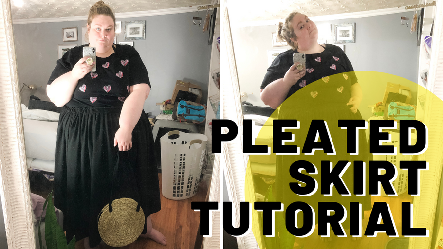 How To Make A Plus Size Pleated Skirt For Fall