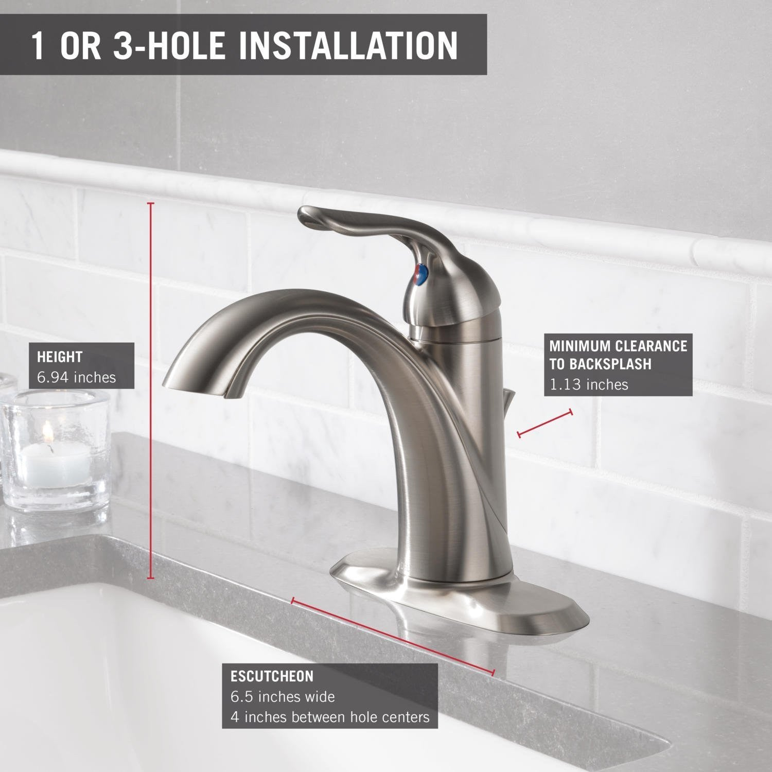 delta 538ssmpudst lahara single handle centerset lavatory faucet stainless give10back givetenback - Delta Lahara