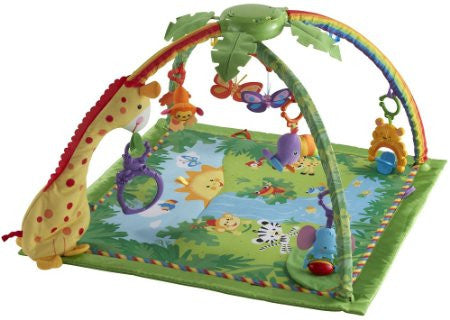 Fisher-Price Rainforest Melodies and Lights Deluxe Gym Give10Back GiveTenBack