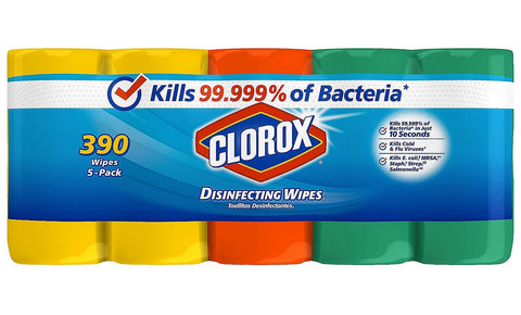 Give 10 Back 044600311630 Clorox Disinfecting Wipes Variety Pack - 5 Pack 78 wipes each Give Ten Back Give10Back