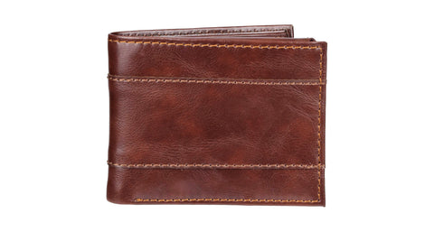 Give 10 Back 26217119892 Wemco Men's Passcase Wallet With Overlay - Light Brown Give Ten Back Give10Back